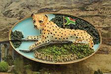 Südafrika Leopard Reiseandenken Souvenir 3D Polyresin Kühlschrankmagnete Magnet