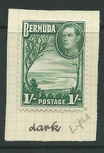 BERMUDA KGVI 1938-1952 Sg115a? 1s MOUNTED MINT VALUE WITH IDENTIFIED SHADE
