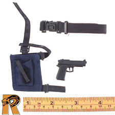 Police Pilot - Pistol w/ Belt & Holster - 1/6 Scale - 21 Toys Action Figures