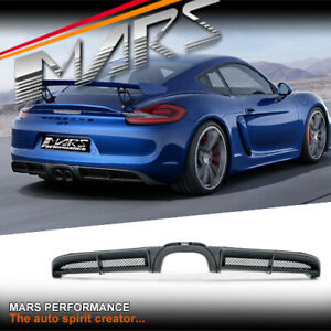 GT4 Style Rear bumper bar diffuser for Porsche 981 Cayman & Boxster