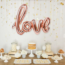 "42"" Rose Gold Love Pattern Foil Balloons Wedding Balloon Birthday Party Decor"