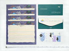 NEW Stationery Letter Set SEA WORLD Theme 4 Sheets + 2 Envelopes + Stickers