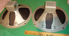(2) 12-Inch Speakers by Magnavox for Wurlitzer (1 open coil, 1 good) Clean! 60's