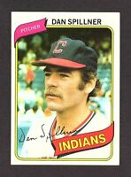 1980 Topps #38 Dan Spillner Cleveland Indians Baseball Card NM/MT