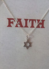 Sterling Silver Jewish Star Of David Necklace