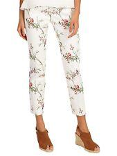 Phase Eight Hummingbird Print Trousers, White/Multi, UK-12 RRP £75