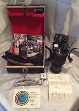 RARE! Ricoh Teleca 240 35MM Half Frame Auto Camera in 7 x 50 Binoculars 1971 B+