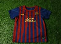 BARCELONA BARCA SPAIN 2011-2012 FOOTBALL SHIRT JERSEY HOME NIKE ORIGINAL KIDS XS
