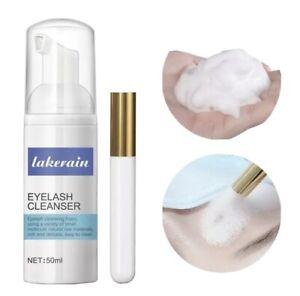 EYELASH EXTENSION FOAMING SHAMPOO+FOAM CLEANSER+EYELID LASH SHAMPOO CLEANER 50ML