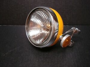 Honda SL70 Headlight COMPLETE with Mounting SL 70 Original OEM Summer Yellow