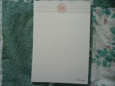 New Lot of 15 Crane 4 1/2 X 7 Tan Cards with Letter M and Decorative Border