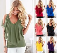 Summer Women Tank Fashion Chiffon Sexy Loose Vest Sleeveless Tops T-Shirt Blouse