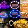 20/40/50/200 LED batteria & spina Micro riso filo rame Fairy String luci partito