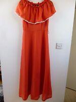 Unbranded true vintage polkadot summer/festival/tea/boho/70s maxi dress size S