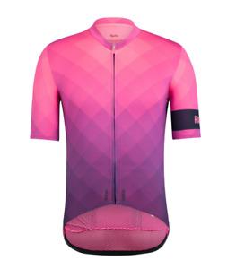 NEW Rapha Men's Cycling Jersey Block Fade Print Pro Team Midweight XL Pinky Navy