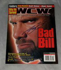 WCW Magazine (Issue 64 - August 2000) autographed by GOLDBERG w/ COA; full issue