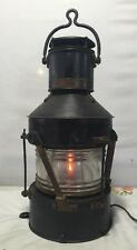 "Vintage Authentic Ships Lantern "" Not Under Command "" Circa: 1944? WWII"