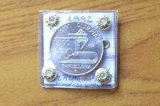 MONETA REPUBBLICA ITALIANA 500 LIRE 1992 OLIMPIADI BARCELLONA ARGENTO FDC