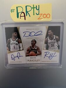 Panini Immaculate 17-18 Triple Auto D'angelo Russell /25