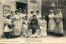 CARTE POSTALE / EXPOSITION DE NANCY 1909 LES INFIRMIERES DU POSTE DE SECOURS