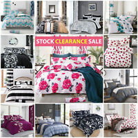 Duvet Cover Bedding Set with Pillow Cases Single Double King Size Quilt Covers