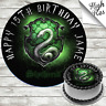 HARRY POTTER - SLYTHERINE EDIBLE BIRTHDAY CAKE TOPPER DECORATION PERSONALISED