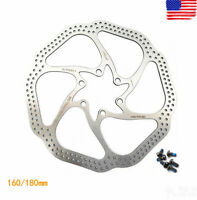 Hydraulic Disc Brakes 160mm//180mm Disc Brake Rotor Bicycle Brake With 6 Bolts
