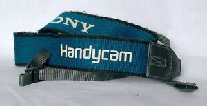 Blue/grey Sony Handycam camcorder strap.
