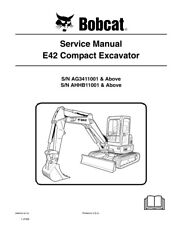 New Bobcat E42 Compact Excavator Repair Service Manual 2010 rev 6989433 Free S&H