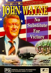 140🆕sealed-NO SUBSTITUTE FOR VICTORY -  JOHN WAYNE  DOCUMENTARY - REGION 0 Dvd