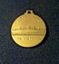 "Vintage MS Victoria  Incres Line Cruise Ship Charm Pendant Circa 1961 Mint 1""D"