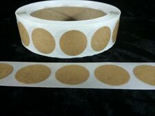 25  7/8 Inch Round Natural Kraft Circles Stickers Shipping Labels New