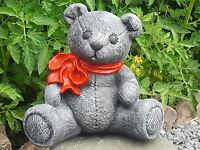 Steinfigur Teddybär Bären Tierfigur Gartendekoration Dekofigur Gartenfigur