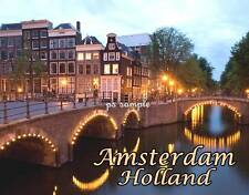 AMSTERDAM - Travel Souvenir Flexible Fridge Magnet