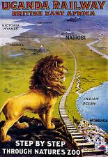 Ugandan Railway -British East Africa Travel A3 Art Poster Print