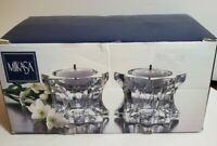 MIKASA Sparkling Star Votive  Candleholder  set of 2 (1Pair New in Box)