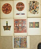 "7 Color Prints Norwegian Designs ""old rose paint from telemark"" Portfolio"