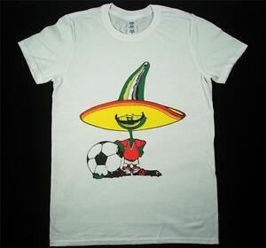 Mexico 86 Pique Football World Cup 80s Retro White T-Shirt S-XXXL Soccer Ciao