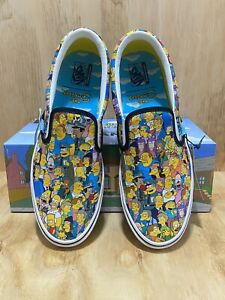 Vans x The Simpsons Springfield Collage Comfycush Slip On Men's Size 11.5 NIB