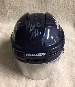 Washington Capitals Mini Helmet Autographed By Green Backstrom & Boudreau JSACOA