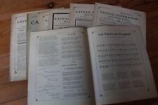 LOT Revue LE CAVEAU STEPHANOIS - Union poétique du FOREZ - Chansons, poèmes 1914
