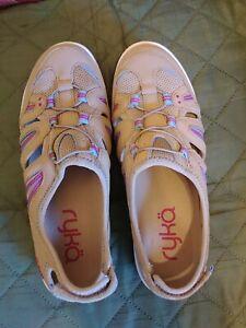 Ryka Hula Leather Mesh Fisherman Sandal Sneakers, Women's Size 7, NWOB, #3333