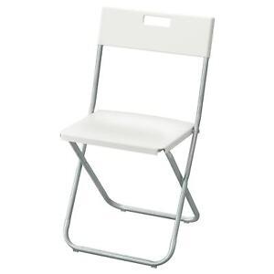 Ikea Gunde Folding Chair Galvanized Steel Polypropylene Plastic Seat
