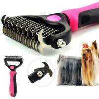 2-Sided Pet Grooming De-Matting Rake Pet Grooming Tool AU N7Q3