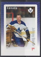 Canada #2875 Great Canadian NHL Goalies Johnny Bower Souvenir Sheet MNH