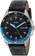 Fossil Men's FS5321 Sport 54 Black Leather Watch