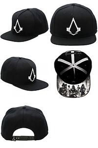 Assassins Creed Syndicate Black Snapback Video Game Hat