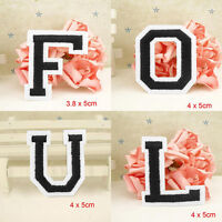 Letter A-Z Embroidered Iron On Patch Sew Motif DIY 1PC Applique Accessories B Nj