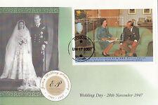 (13670) Liberia FDC Queen Golden Wedding - 17 June 1997