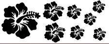 8 pegatinas de vinilo Hibisco,hibiscus,hawai,tropical,beach,summer,557
